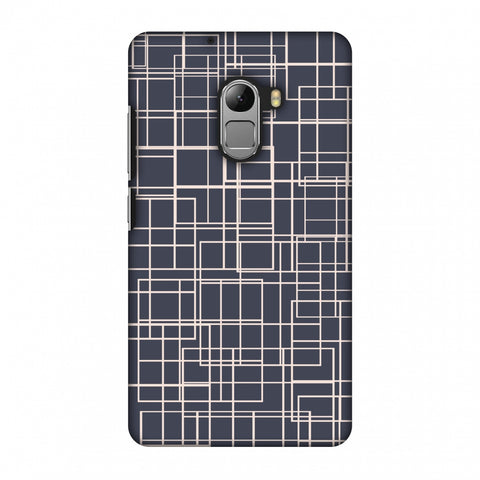Puzzled Lines - Steel Grey Slim Hard Shell Case For Lenovo Vibe K4 Note