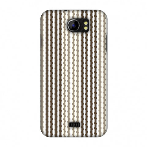 Patterned Stripes - Beige And Brown Slim Hard Shell Case For Micromax Canvas 2 A110