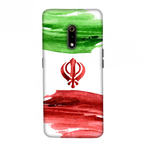 Iran flag- Paint strokes Slim Hard Shell Case For Realme X