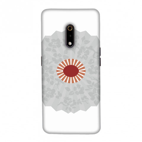 Hand fan- Japan flag Slim Hard Shell Case For Realme X