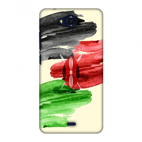 Kenya Flag - Brush Strokes Slim Hard Shell Case For Micromax Canvas Play Q355