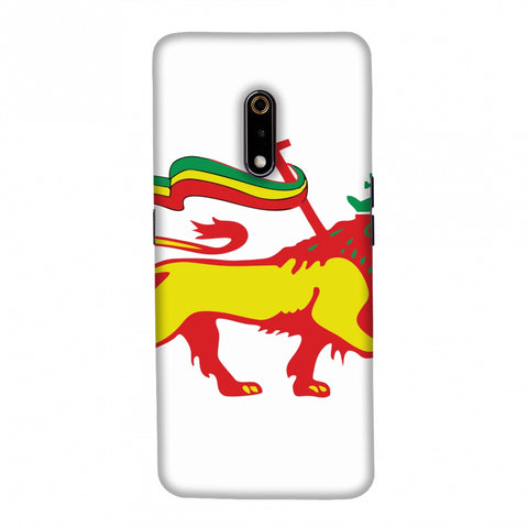 Lion of Judah- Ethiopia flag Slim Hard Shell Case For Realme X