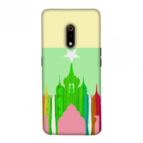 Ananda temple- Myanmar flag Slim Hard Shell Case For Realme X