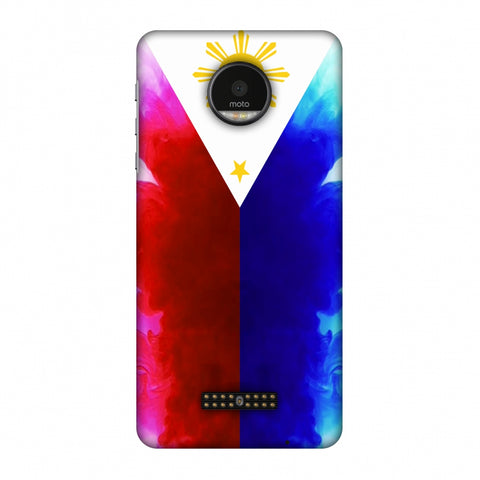 Philippines Flag - Smoke Shades Slim Hard Shell Case For Motorola Moto Z