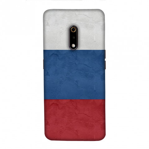 Russia flag- Textures Slim Hard Shell Case For Realme X