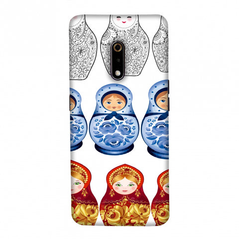 Matryoshka dolls- Russia flag Slim Hard Shell Case For Realme X
