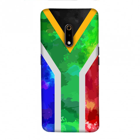 South Africa flag- Textures Slim Hard Shell Case For Realme X