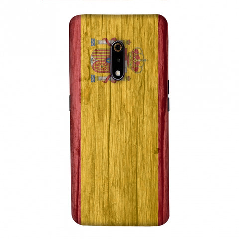 Spain flag- Wood textures Slim Hard Shell Case For Realme X