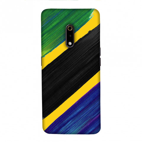Tanzania flag- Brush strokes Slim Hard Shell Case For Realme X
