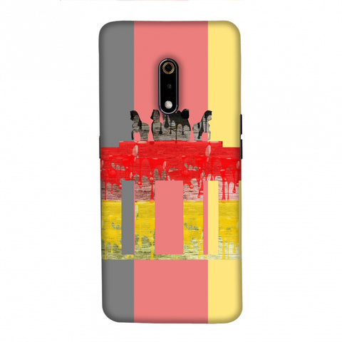The Brandenburg Gate- Germany Flag Slim Hard Shell Case For Realme X