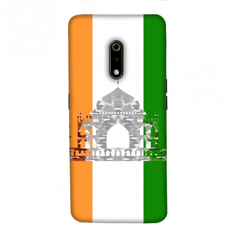 The Taj Mahal- India flag Slim Hard Shell Case For Realme X