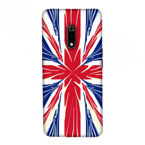 UK flag- Cutouts Slim Hard Shell Case For Realme X