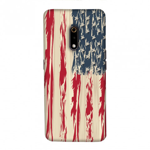 USA flag- Paint splashes Slim Hard Shell Case For Realme X