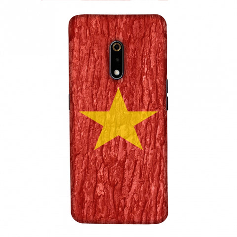 Vietnam flag- Wood texture Slim Hard Shell Case For Realme X