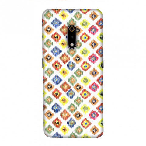 Ikats- Brights Slim Hard Shell Case For Realme X