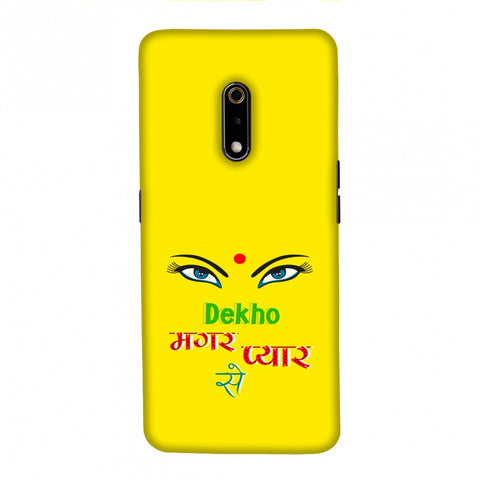 Dekho Magar Pyaar Se- Yellow Slim Hard Shell Case For Realme X