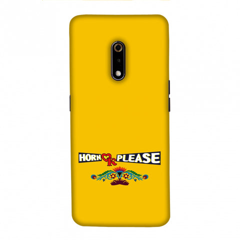 Horn OK Please- Mustard Slim Hard Shell Case For Realme X