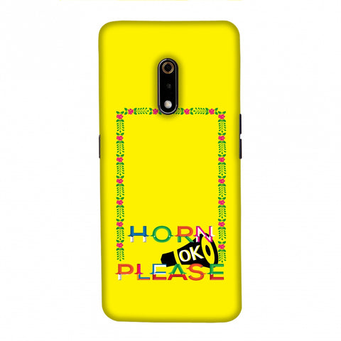 Horn OK Please Loudspeaker- Yellow Slim Hard Shell Case For Realme X