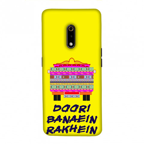 Doori Banaein Rakhein- Yellow Slim Hard Shell Case For Realme X