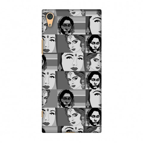 Quirky Bollywood - Monochrome Slim Hard Shell Case For Sony Xperia XA1