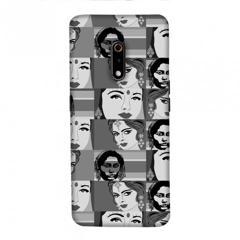 Quirky Bollywood- Monochrome Slim Hard Shell Case For Realme X
