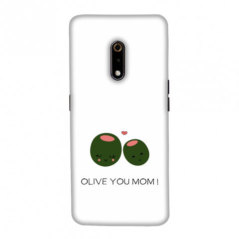 Olive you Mom- Beige Slim Hard Shell Case For Realme X