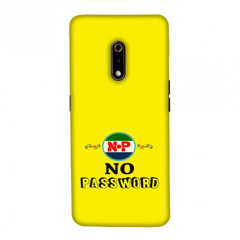 No Password- Bright yellow Slim Hard Shell Case For Realme X