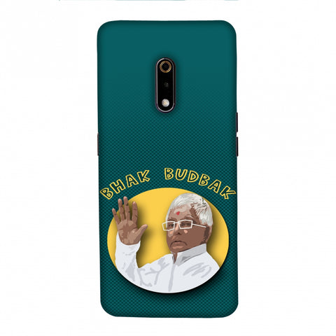 Bhak Budbak Portrait - Teal green Slim Hard Shell Case For Realme X