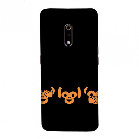 The Three Wise Monkeys - Black Slim Hard Shell Case For Realme X