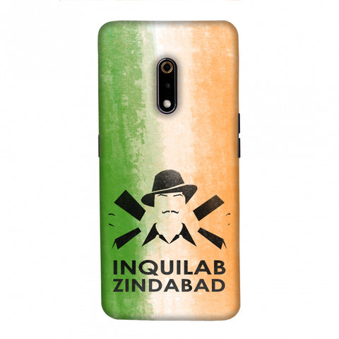 Inquilab Zindabad - Bhagat Singh - Flag Slim Hard Shell Case For Realme X