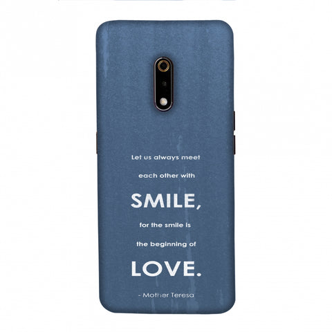 Mother Teresa - Quote Blue Slim Hard Shell Case For Realme X