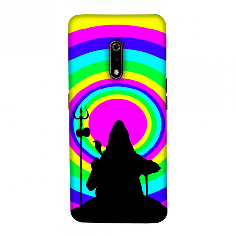 Shiva Psychedelic Slim Hard Shell Case For Realme X