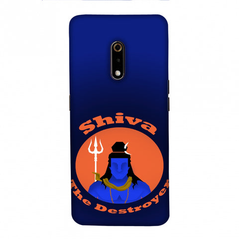 Shiva - The Destroyer - Blue Slim Hard Shell Case For Realme X