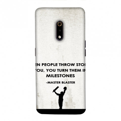 Sachin - Quotes - Beige Slim Hard Shell Case For Realme X