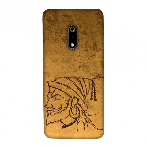 Shivaji Portrait - Sand Yellow Slim Hard Shell Case For Realme X