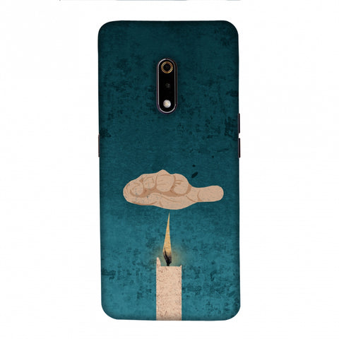 Bhagat Singh - The Promise - Teal Slim Hard Shell Case For Realme X
