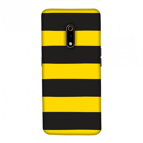 Bees - Fat Stripes Slim Hard Shell Case For Realme X
