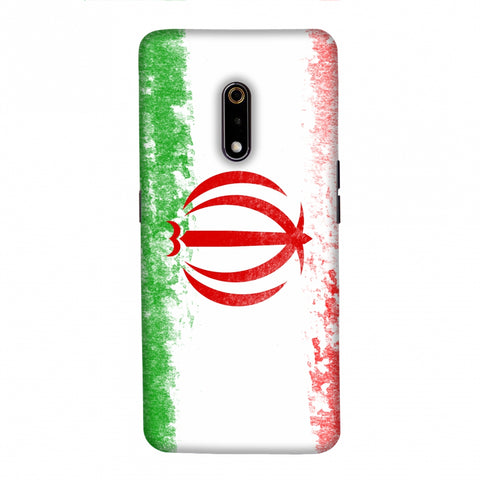 Football - Love For Iran Slim Hard Shell Case For Realme X