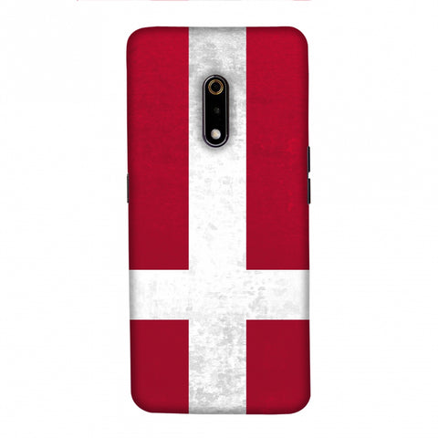 Football - Love For Denmark Slim Hard Shell Case For Realme X