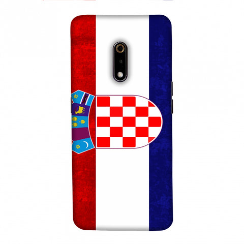 Football - Love For Croatia Slim Hard Shell Case For Realme X