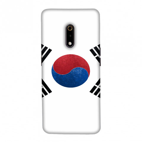 Football - Love For South Korea Slim Hard Shell Case For Realme X
