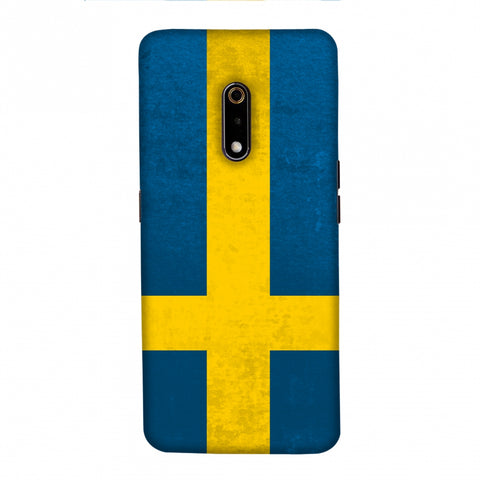 Football - Love For Sweden Slim Hard Shell Case For Realme X