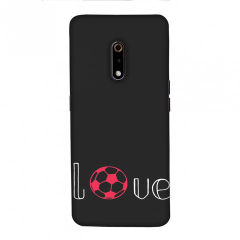 Football - Love Football - Grey And Pink Slim Hard Shell Case For Realme X