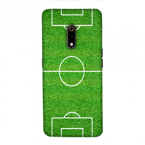 Football - Love Football - Soccer Ground Slim Hard Shell Case For Realme X