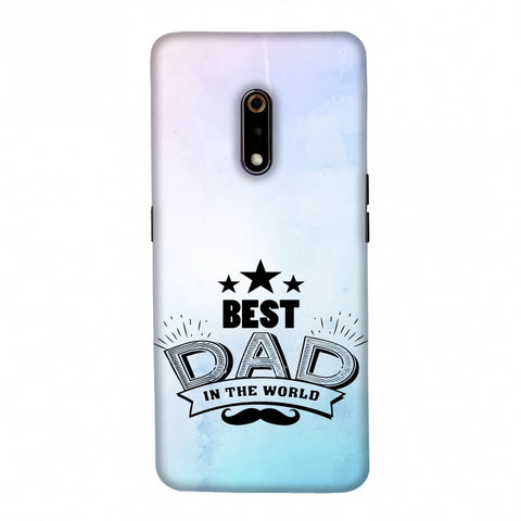 Father's Day - Best Dad In The World Slim Hard Shell Case For Realme X
