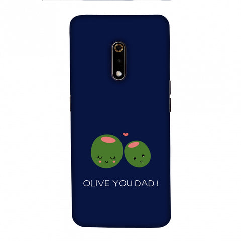 Father's Day - Olive You Dad Slim Hard Shell Case For Realme X