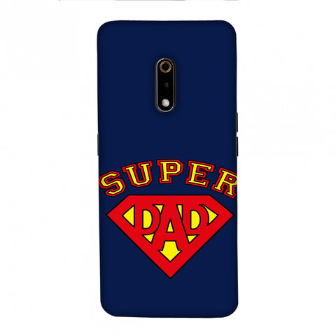 Father's Day - Super Dad Slim Hard Shell Case For Realme X