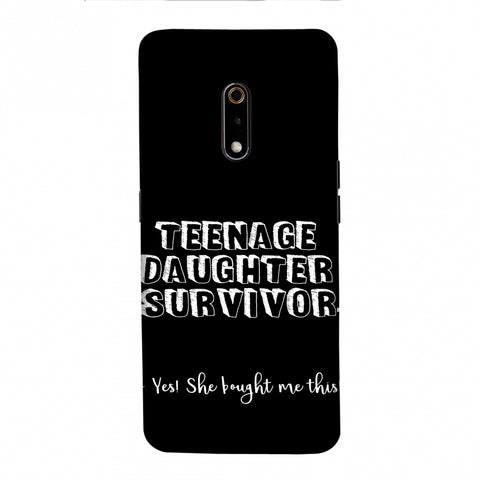 Father's Day - Teenage Daughter Survivor Slim Hard Shell Case For Realme X