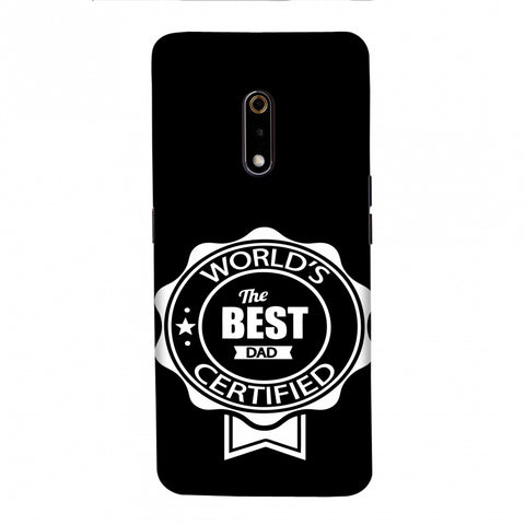 Father's Day - Certified Best Dad Slim Hard Shell Case For Realme X
