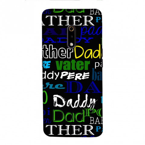 Father's Day - Papa Father Pop Slim Hard Shell Case For Realme X